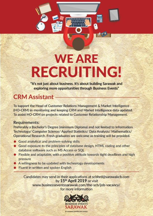Job Vacancy Business Events Sarawak By Sarawak